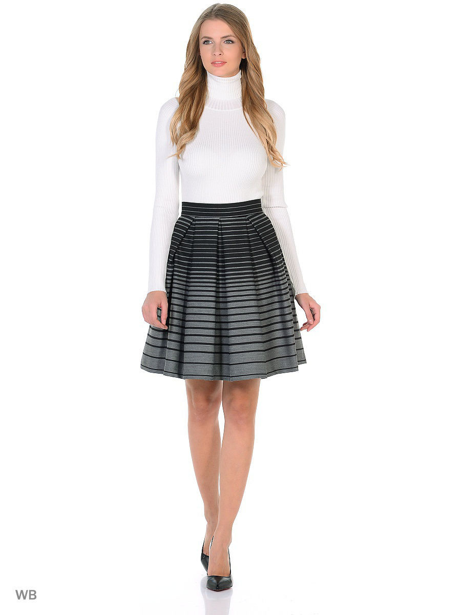 Юбки Katya Erokhina Юбка Stripe Grey юбки katya erokhina юбка blair skirt