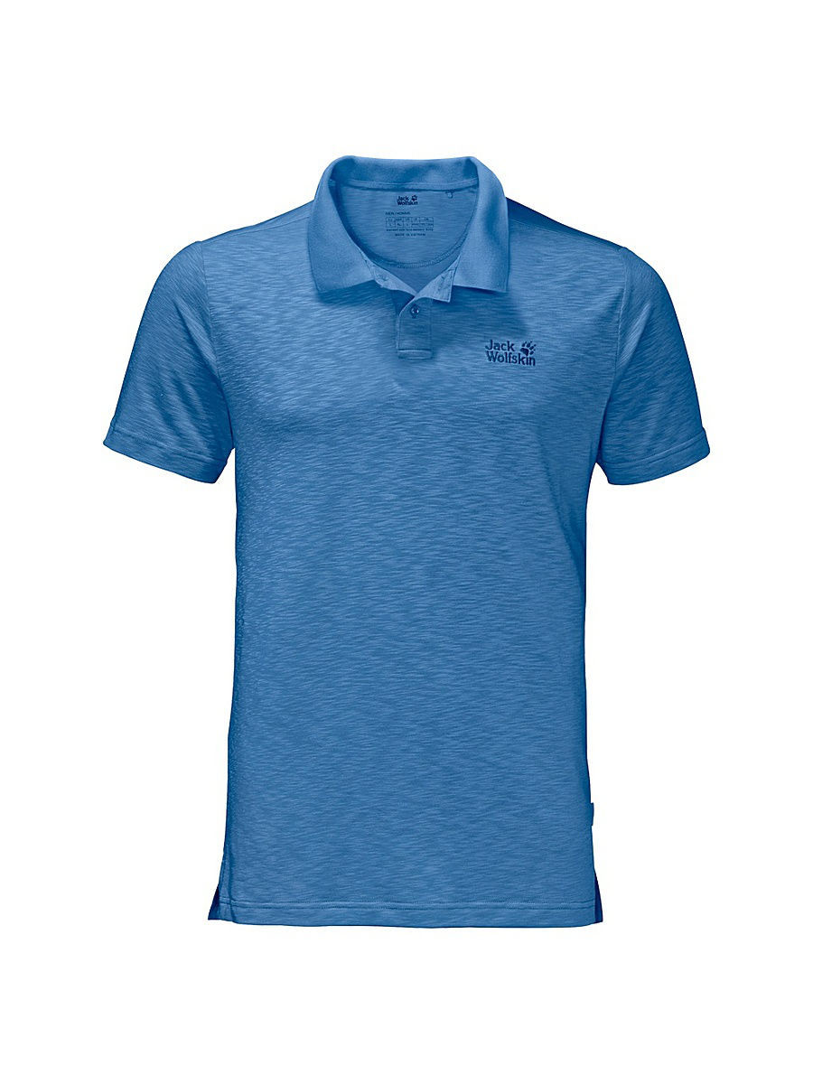 Поло Jack Wolfskin Футболка TRAVEL POLO MEN футболка поло pique striped polo men jack wolfskin
