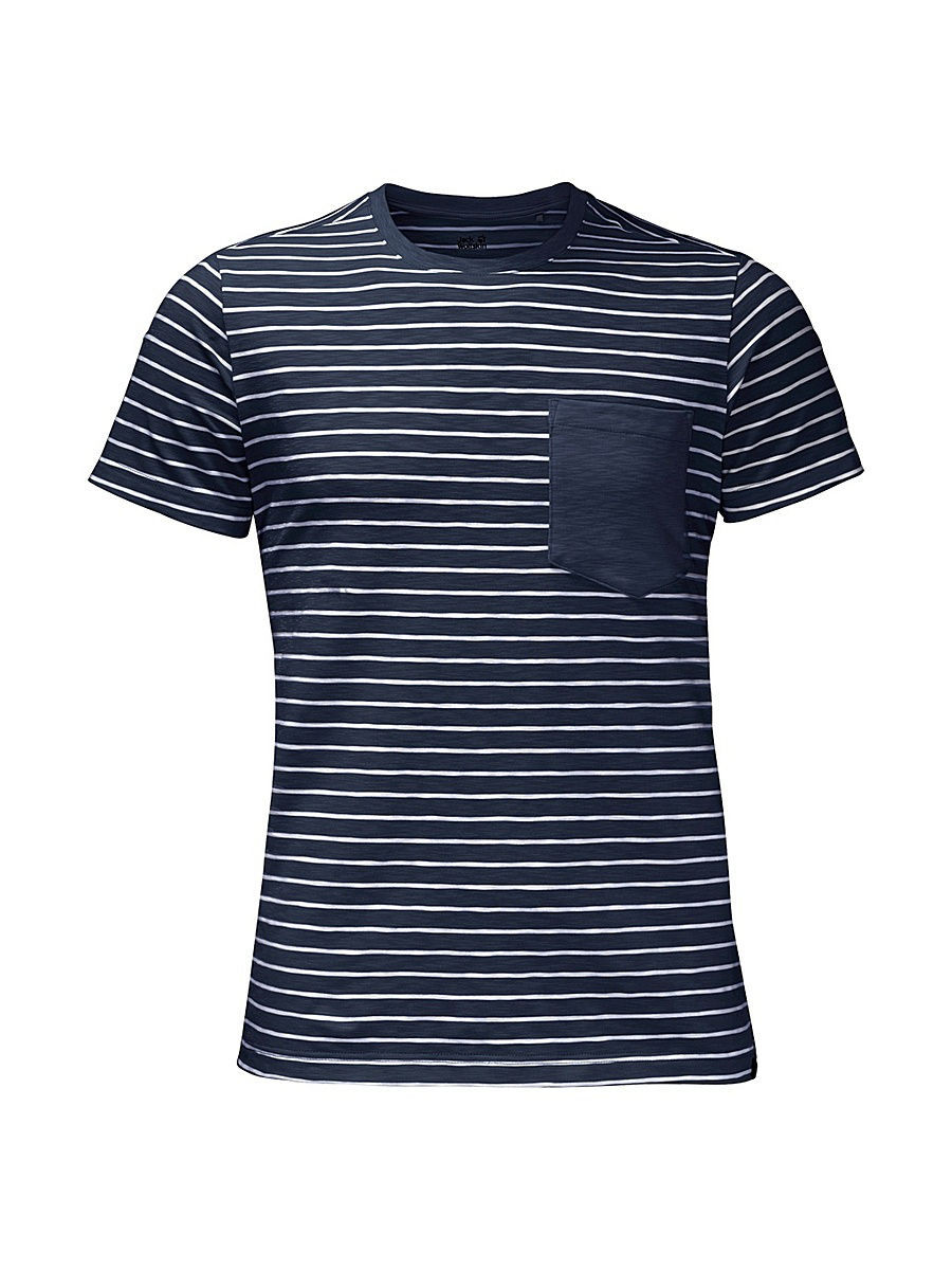 Футболка Jack Wolfskin Футболка TRAVEL STRIPED T MEN футболка поло pique striped polo men jack wolfskin