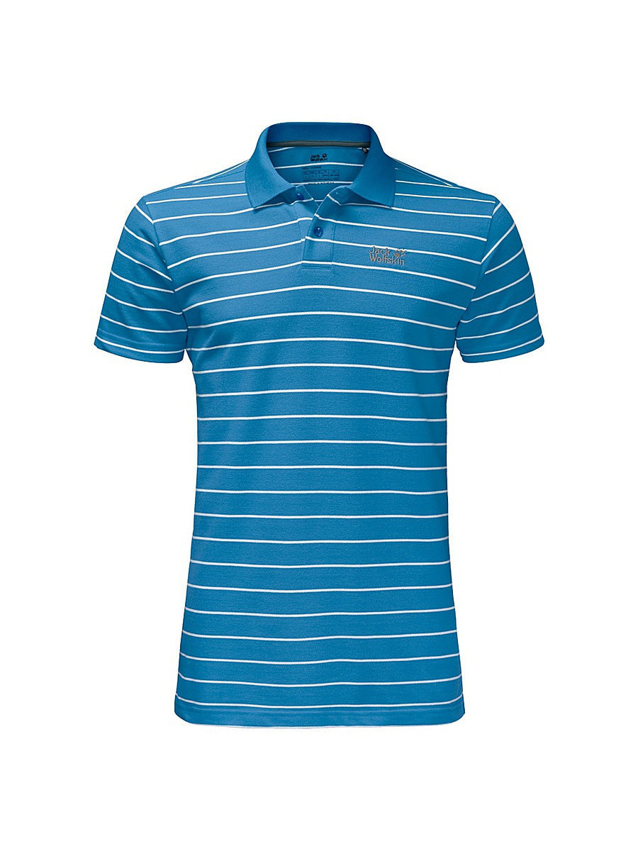Поло Jack Wolfskin Футболка-поло PIQUE STRIPED POLO MEN футболка поло pique striped polo men jack wolfskin