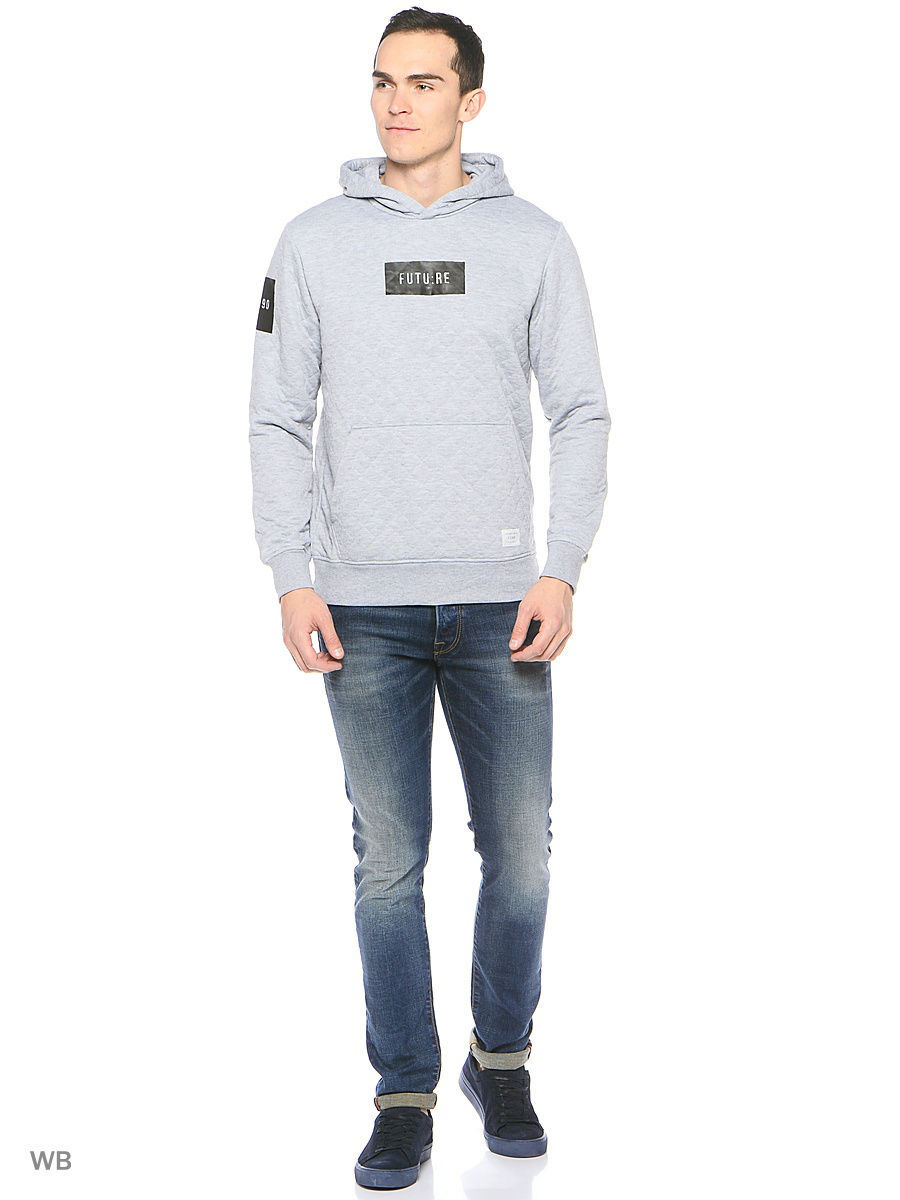 Толстовка Jack & Jones 12113672/LightGreyMelange