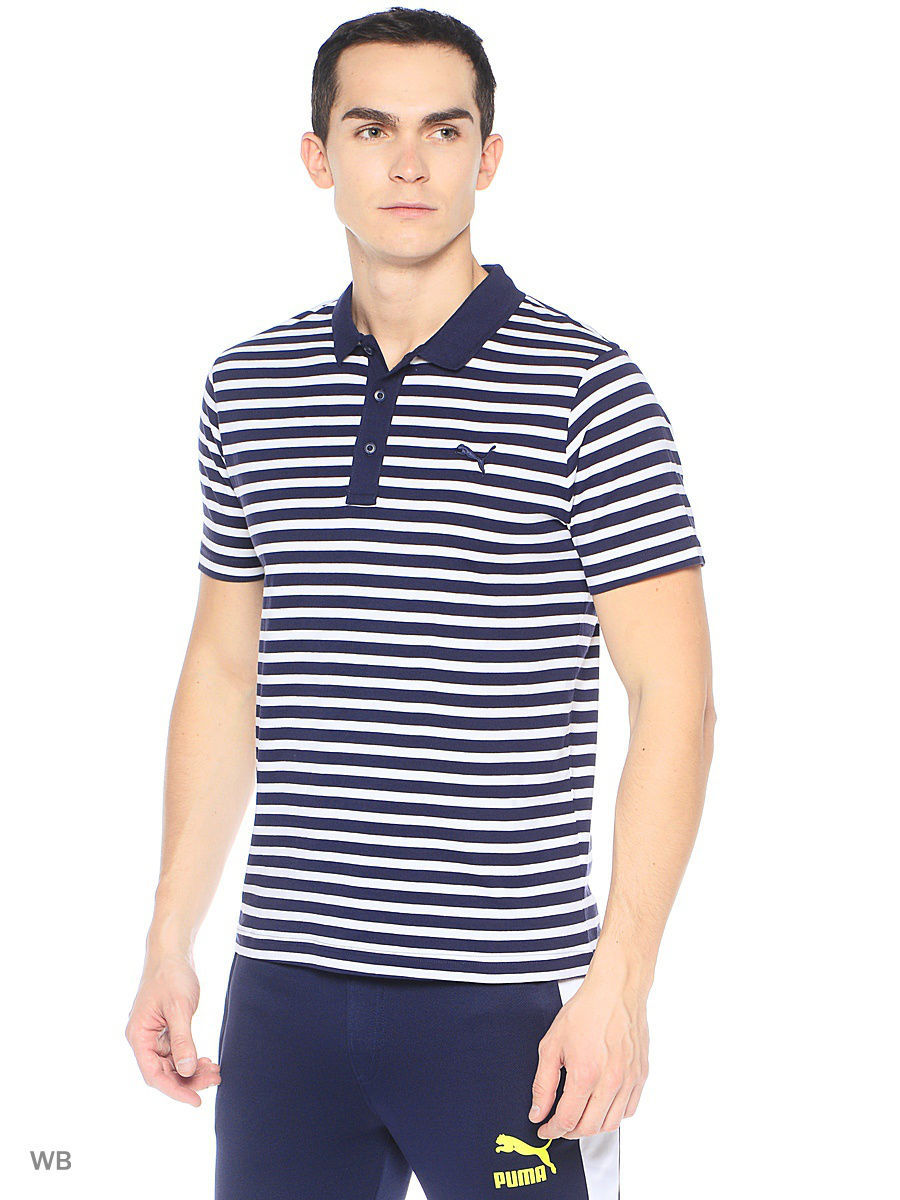 Поло PUMA Футболка-поло ESS Striped Jersey Polo поло puma футболка поло sf polo