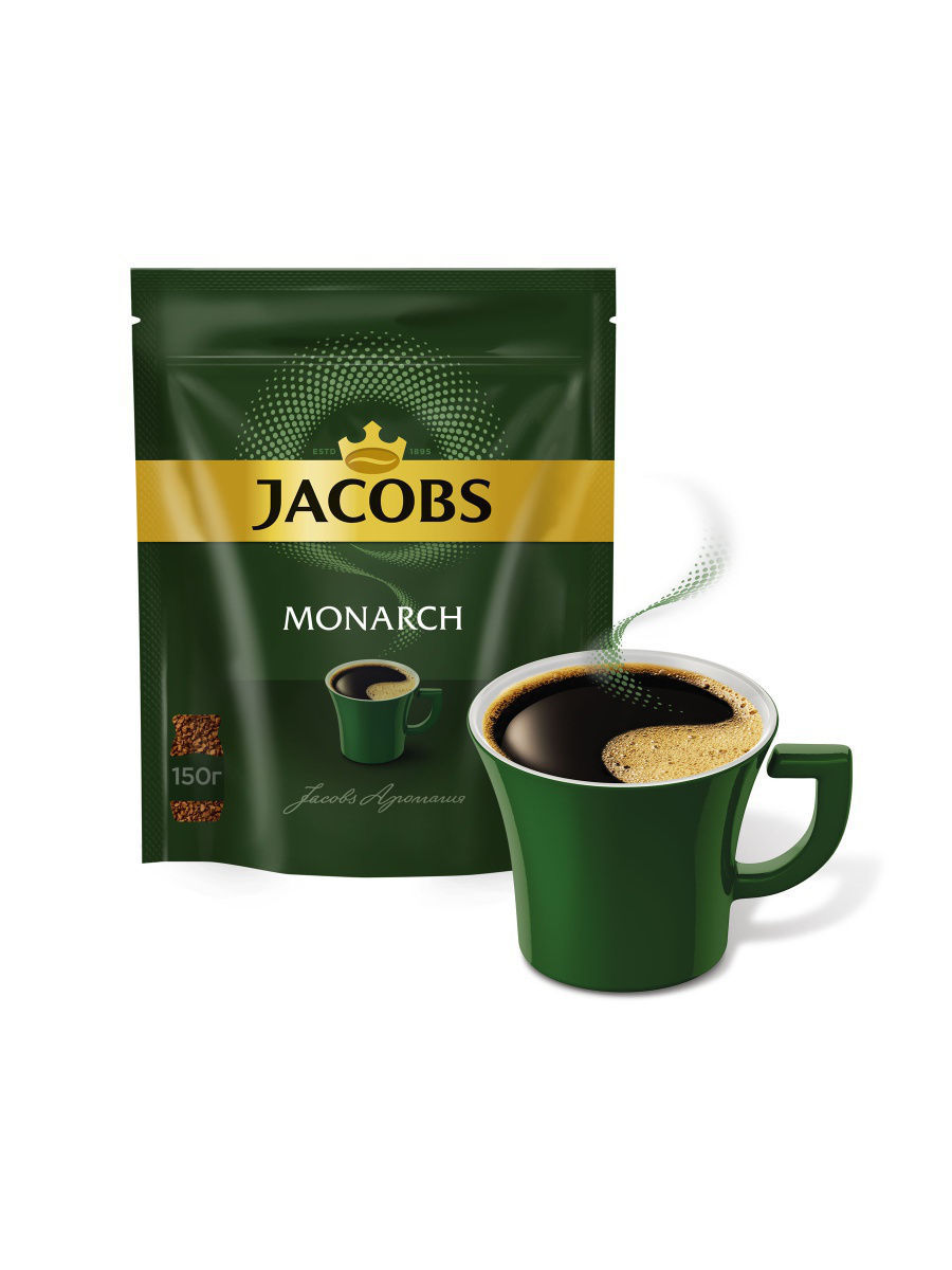 Кофе Jacobs Кофе растворимый Jacobs Monarch 150гр jacobs monarch кофе молотый 70 г