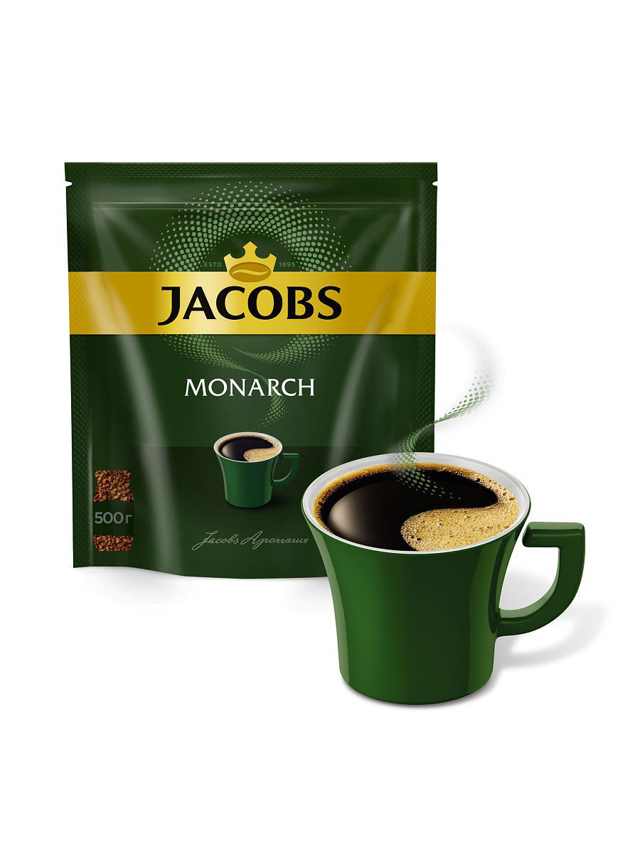 Кофе Jacobs Кофе растворимый Jacobs Monarch 500гр jacobs monarch кофе молотый 70 г