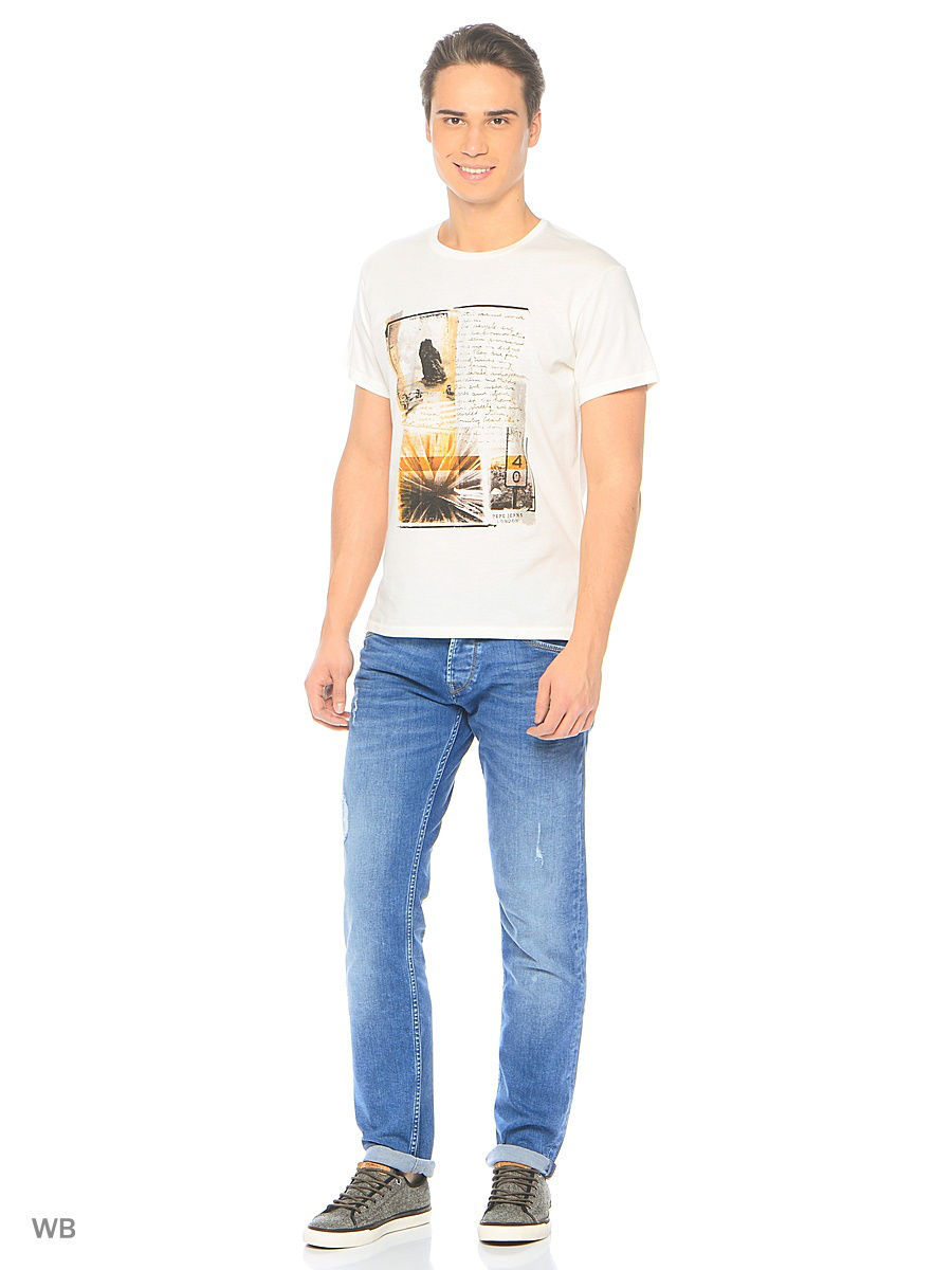Футболка Pepe Jeans London PM503546/803OFFWHITE