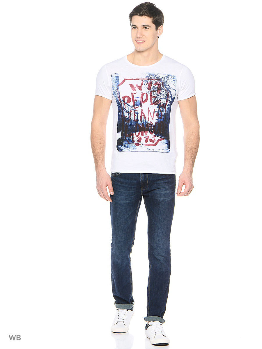 Футболка Pepe Jeans London PM503618/802OPTICWHITE