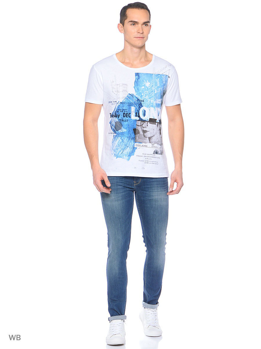 Футболка Pepe Jeans London PM503638/802OPTICWHITE