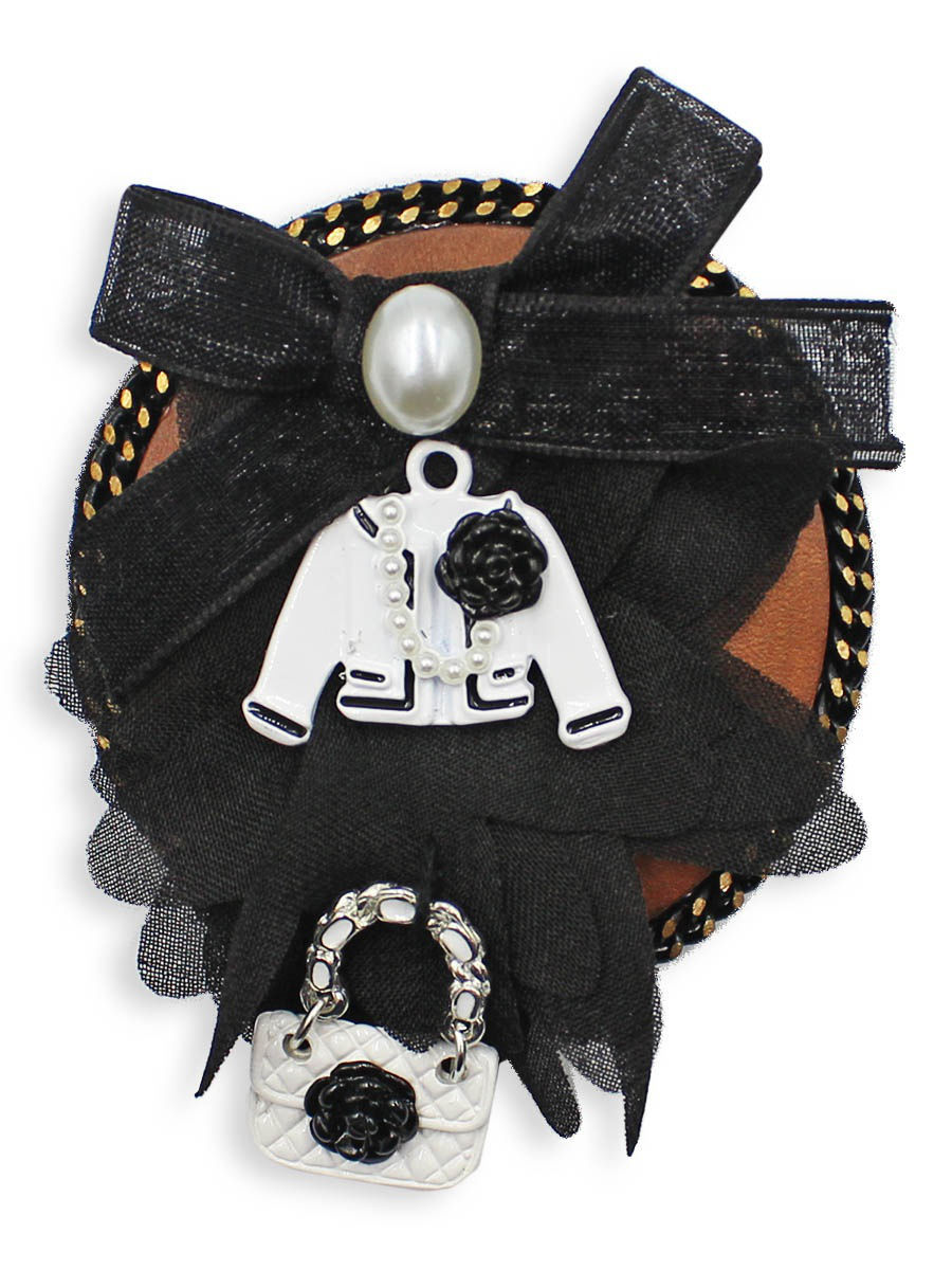 Брошь Taya T-B-12558-BROOCH-WH.BLACK