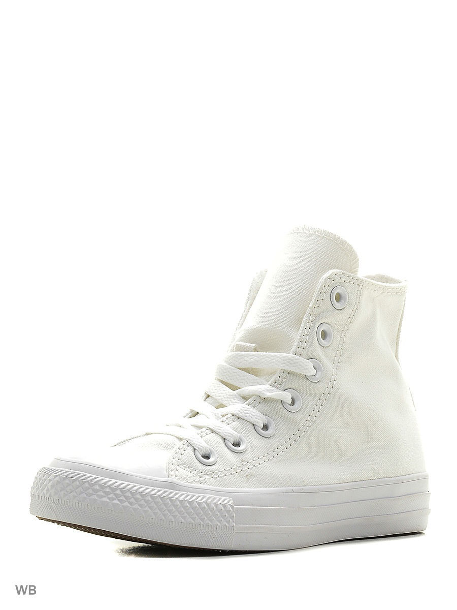 Кеды Chuck Taylor All Star  HI WHITE MONO
