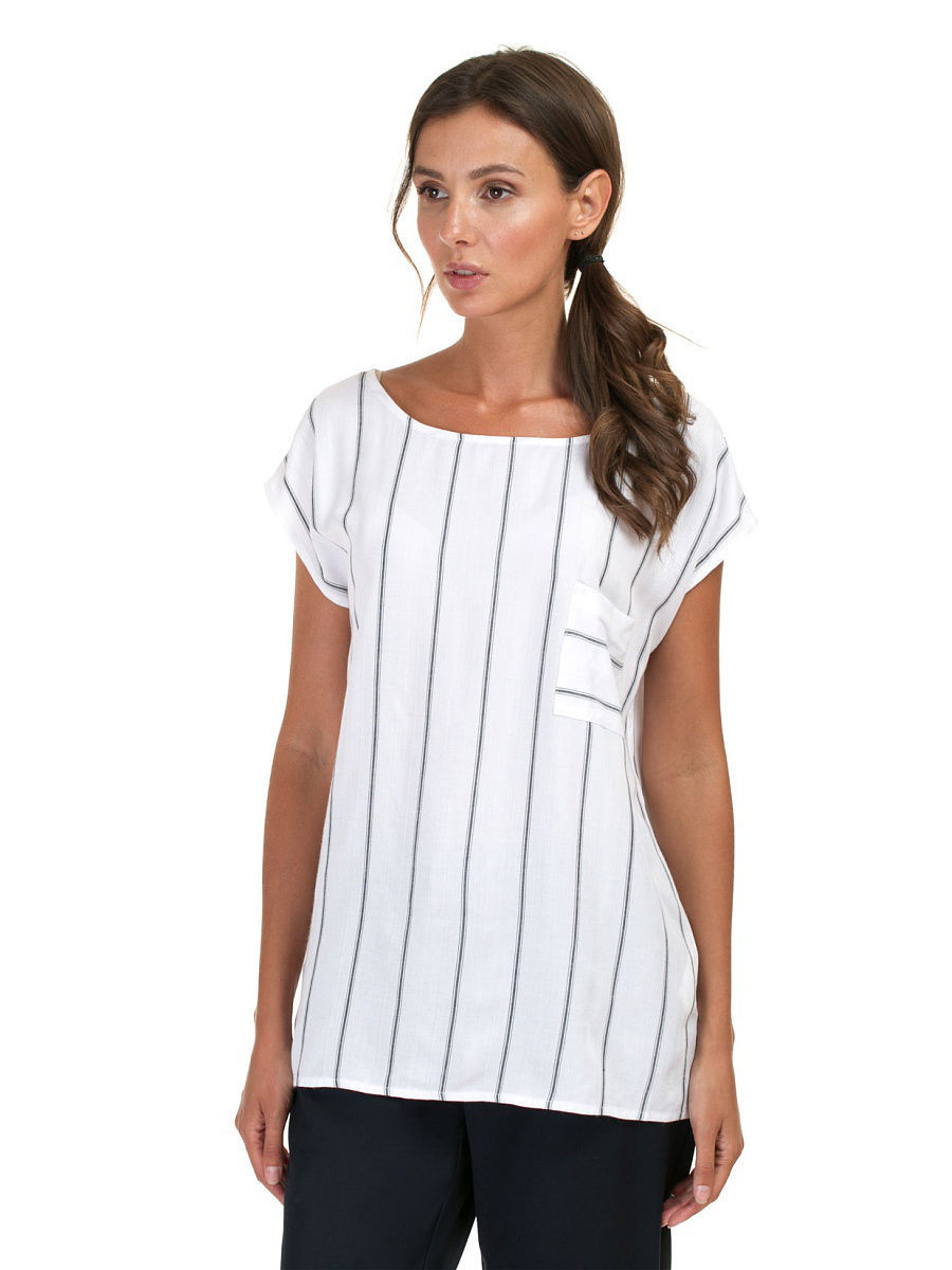 Топ Baon (Баон) B267020/MILK-BLACKSTRIPED