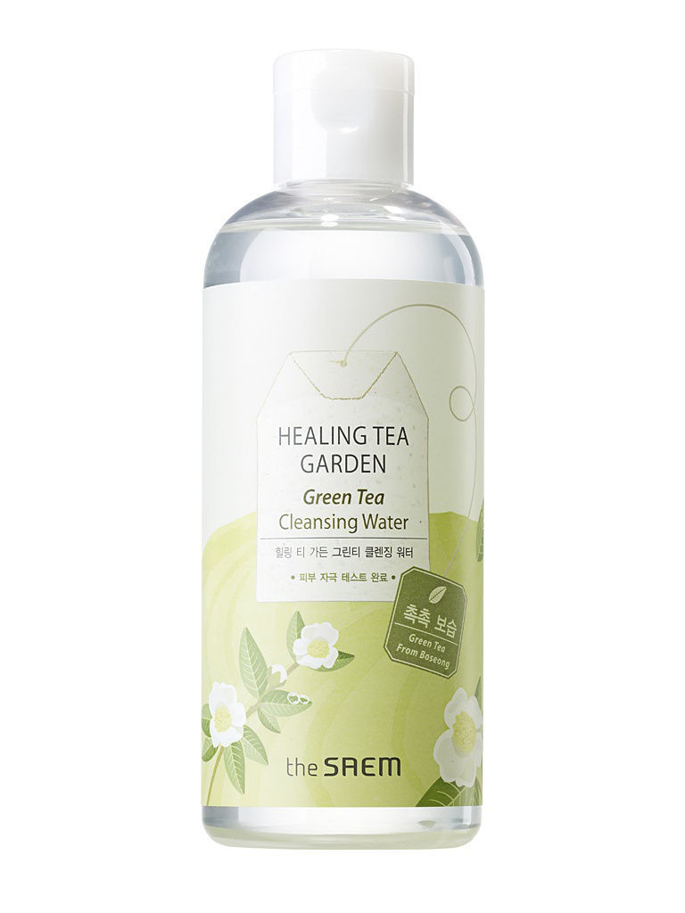 средства для снятия макияжа the saem garden вода очищ увлаж с экстр зел чая healing tea garden green tea cleansing water Средства для снятия макияжа the SAEM Garden Вода очищ. увлаж. с экстр. зел. чая Healing Tea Garden Green Tea Cleansing Water