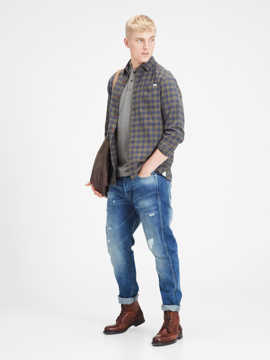 Мужские поло Jack & Jones 12116544/LightGreyMelange