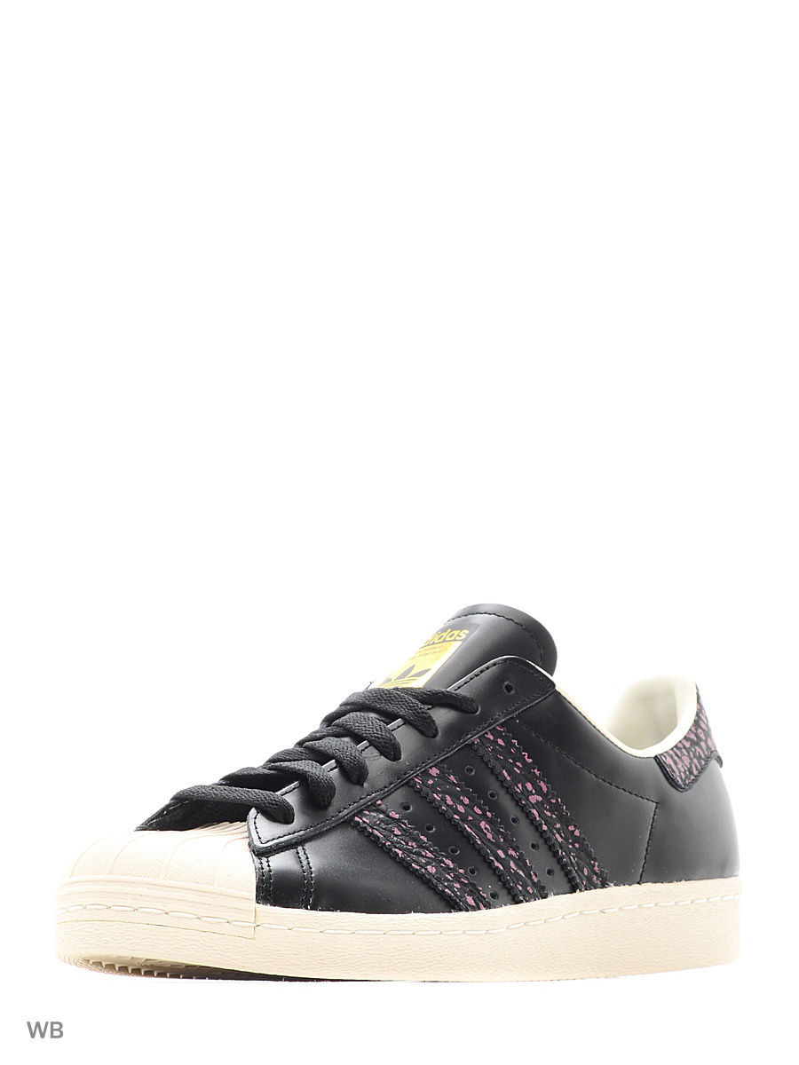 Кроссовки Adidas Кроссовки Superstar 80S Cblack/Crapnk/Owhite adidas x pharrell little kids superstar supercolor