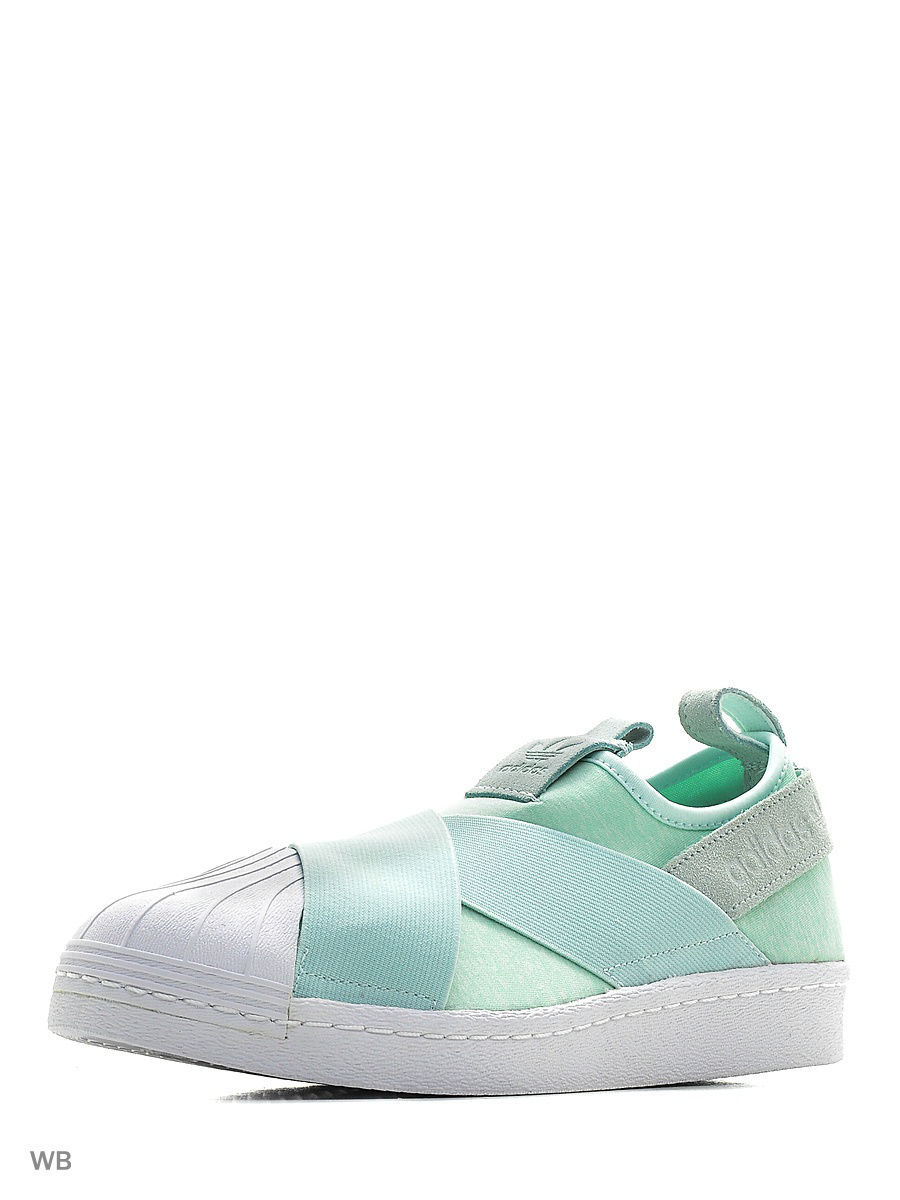 Кроссовки Adidas Кроссовки Жен Superstar Slipon W Icemin/Icemin/Ftwwht adidas x pharrell little kids superstar supercolor