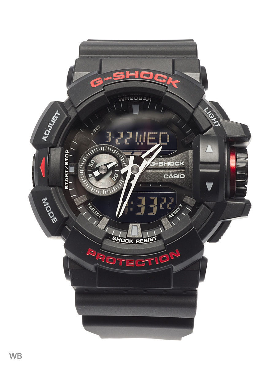 Часы наручные CASIO Часы G-Shock GA-400HR-1A часы casio g shock ga 110mb 1a black