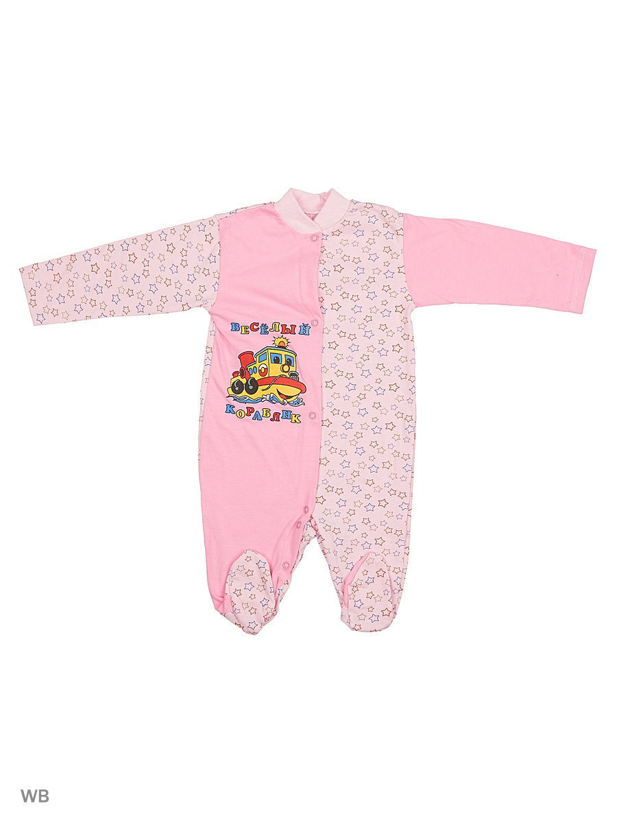 Комбинезон Babycollection 13A-KB151-SUk(z)/1/d/розовый