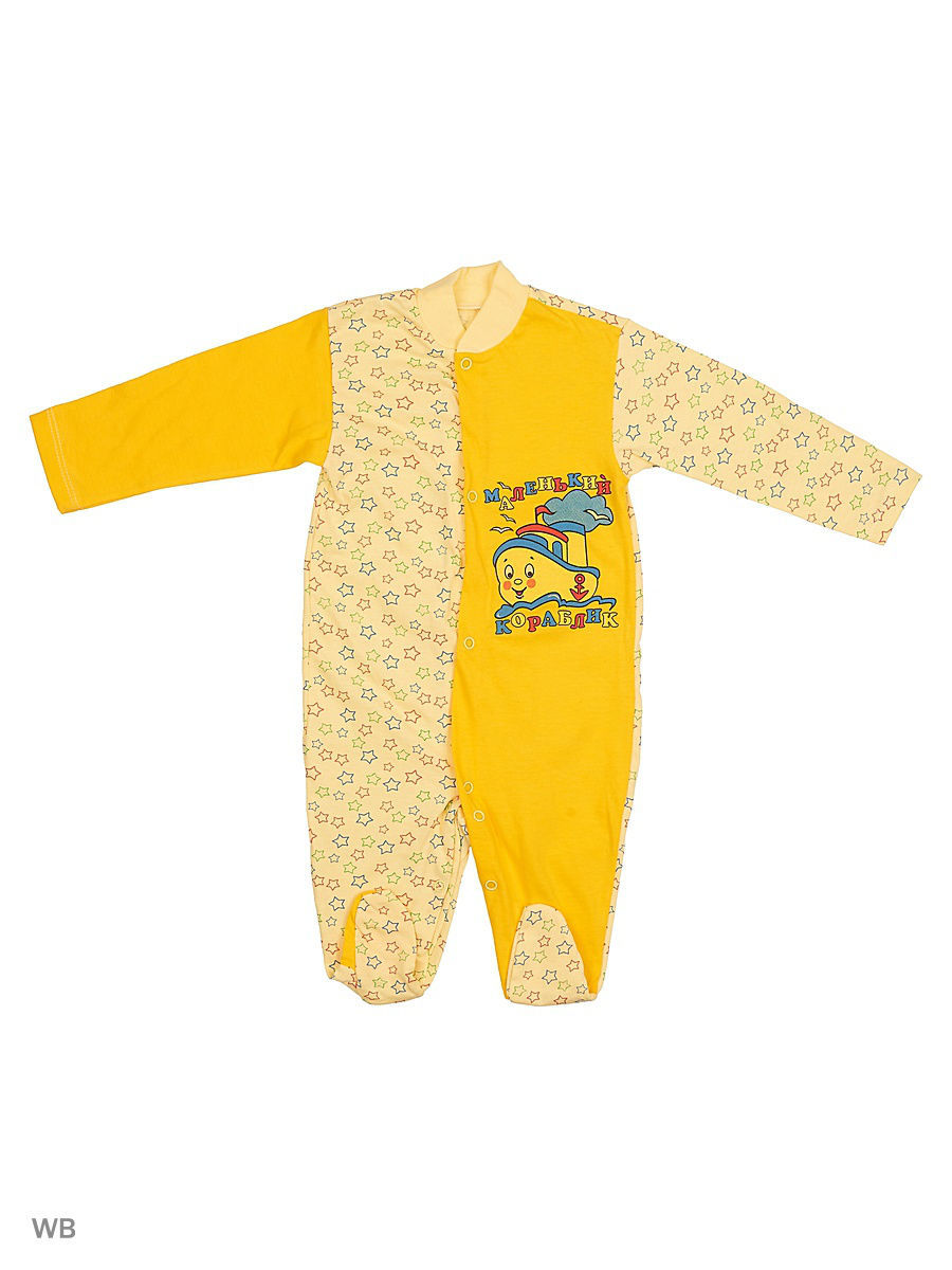 Комбинезон Babycollection 13A-KB151-SUk(z)/2/d/желтый