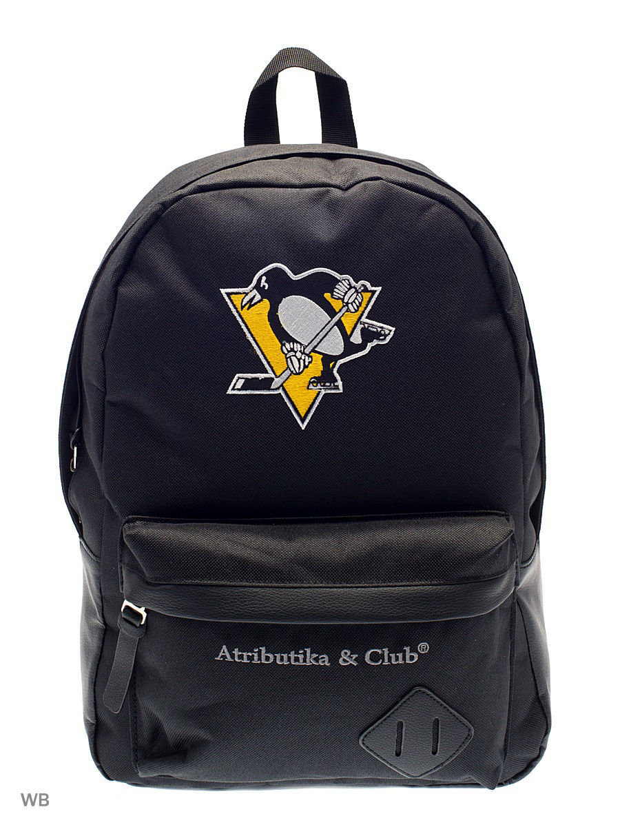Рюкзаки Atributika & Club Рюкзак NHL Penguins рюкзак atributika & club pittsburgh penguins цвет черный 25 л 58055