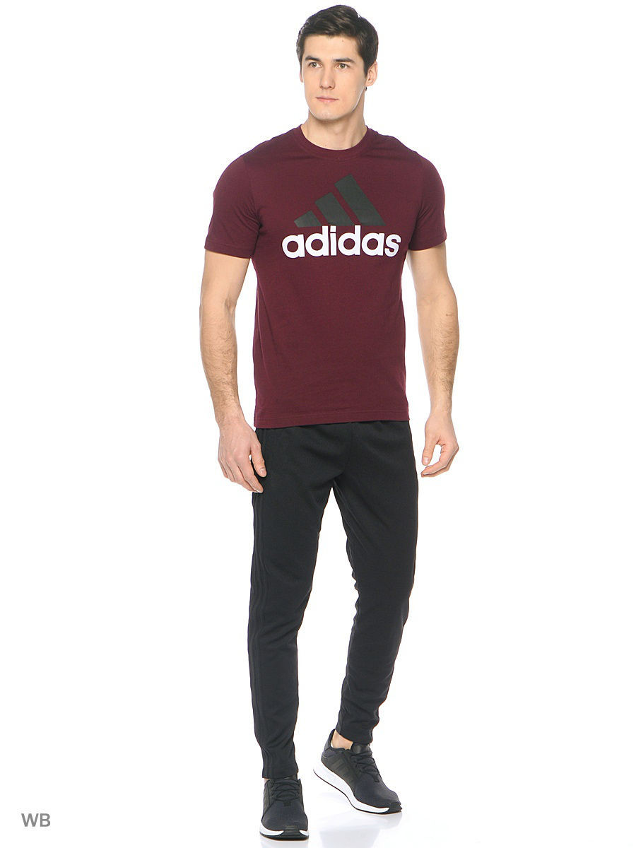 Футболка ESS LINEAR TEE      MAROON/BLACK/WHITE