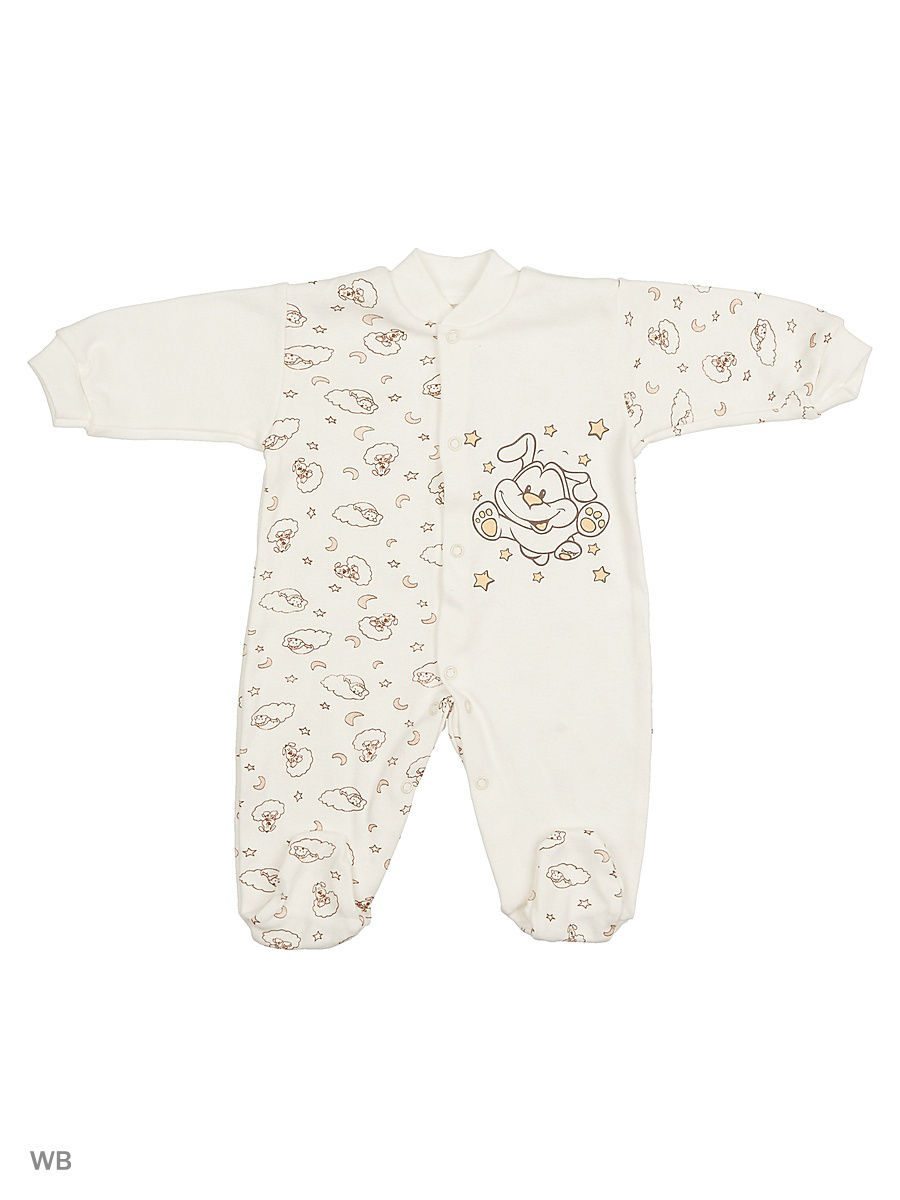 Комбинезон Babycollection 13A-KB152-iTk/d/молочный