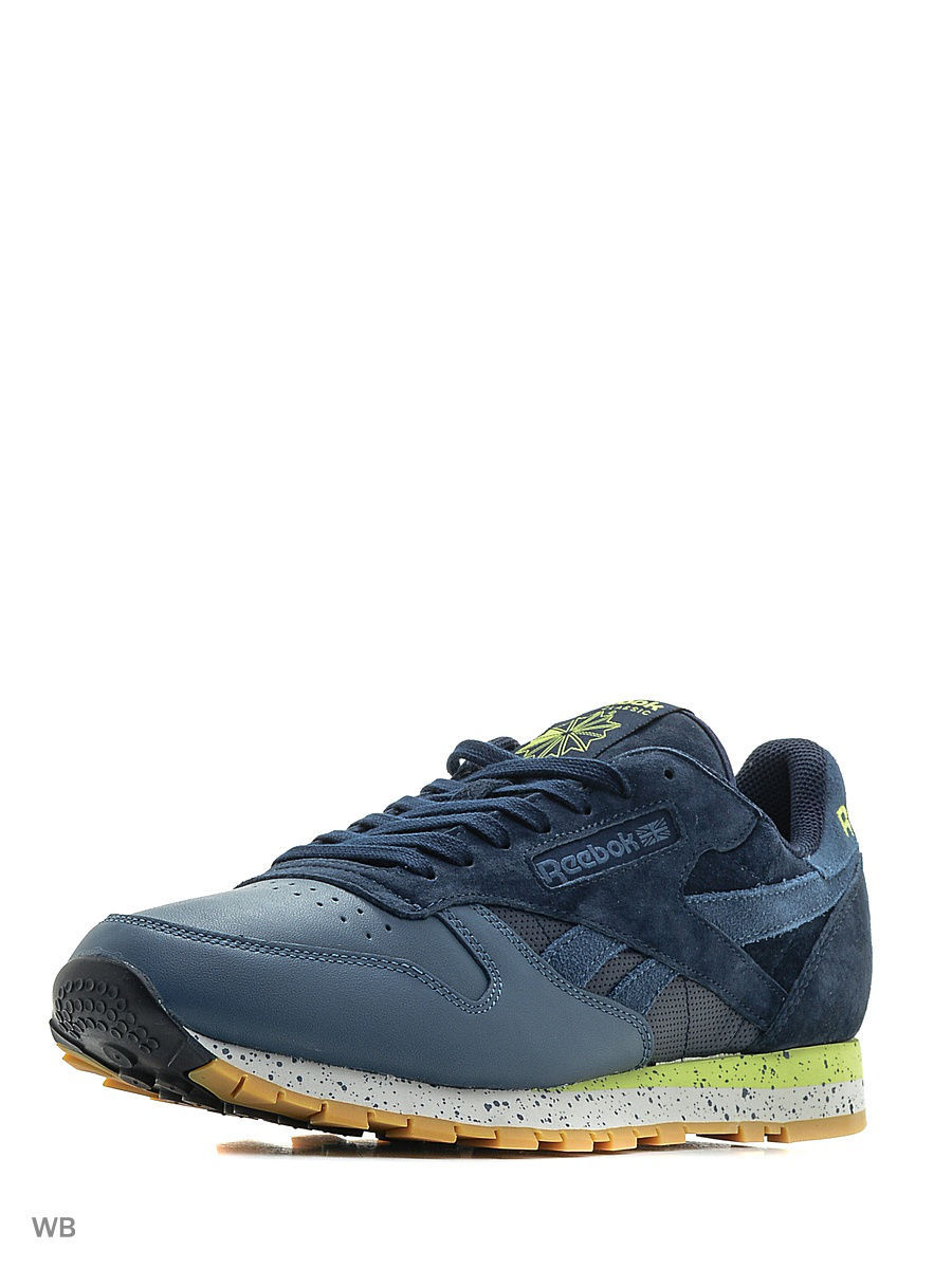 Кроссовки Reebok Кроссовки CL LEATHER SM       NAVY/BRAVE BLUE/SKUL brave soul