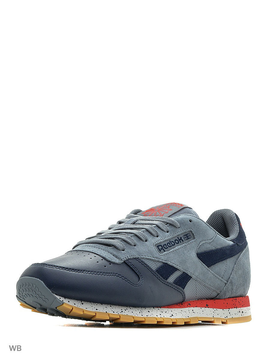 Кроссовки Reebok Кроссовки CL LEATHER SM       ASTEROID DUST/NAVY/R кроссовки reebok кроссовки trainfusion nine 2 navy orng pewter gre