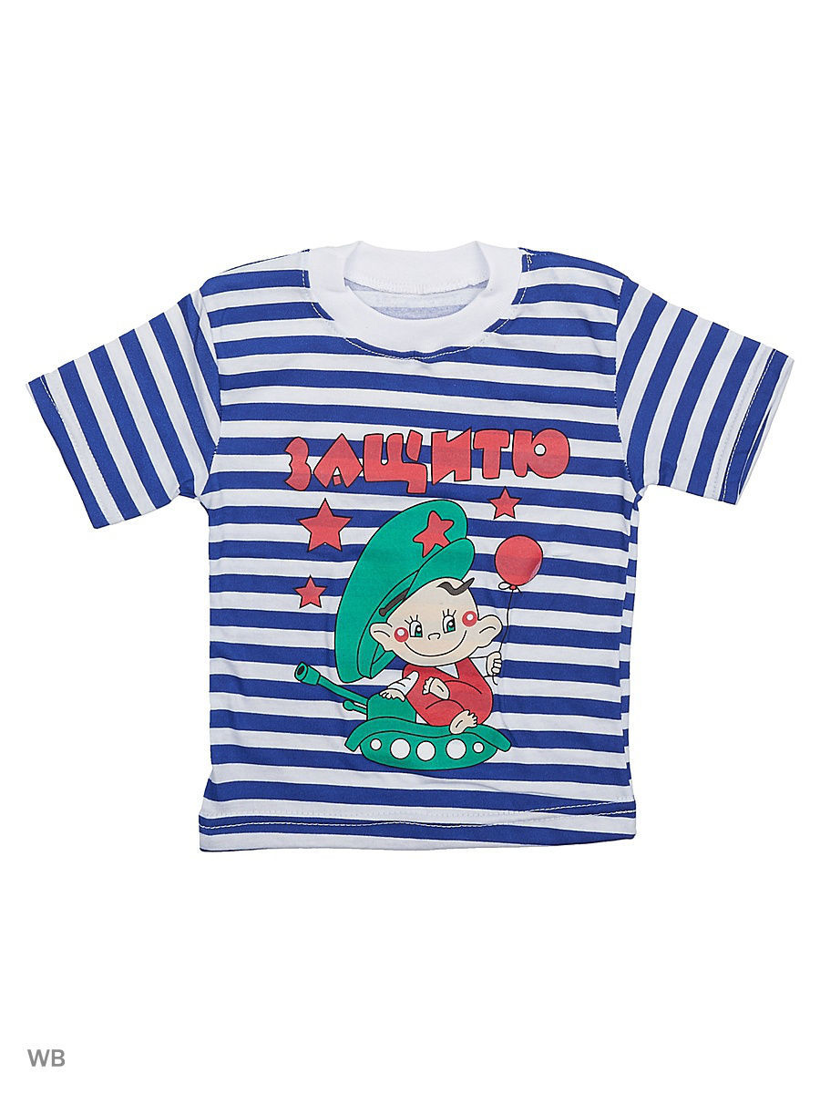 Футболка Babycollection 11Baby-608/1/синий,белый