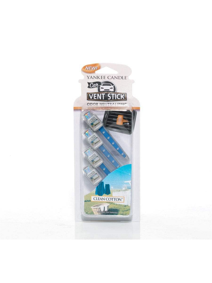 Автомобильные ароматизаторы YANKEE CANDLE Авто-ароматизатор стик Чистый хлопок CAR VENT STICK CLEAN COTTON custom fit car floor mats for mazda 6 atenza mazda 3 special all weather car styling carpet rugs floor liners 2004 now