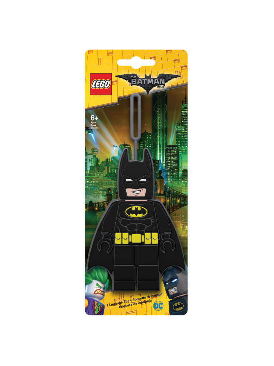 Брелоки Lego. Бирка для багажа LEGO Batman Movie (Лего Фильм: Бэтмен)-Batman конструкторы lego lego атака глиноликого 70904 batman movie