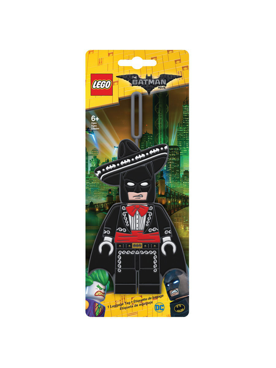 Брелоки Lego. Бирка для багажа LEGO Batman Movie (Лего Фильм: Бэтмен)-Mariachi Batman конструкторы lego lego атака глиноликого 70904 batman movie