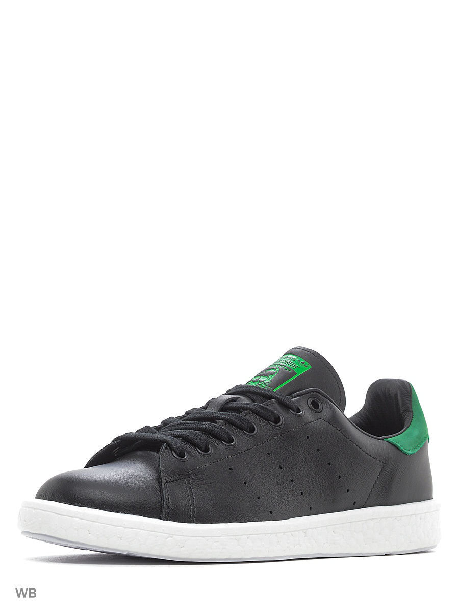 Кеды Adidas Кеды Stan Smith     Cblack/Cblack/Green