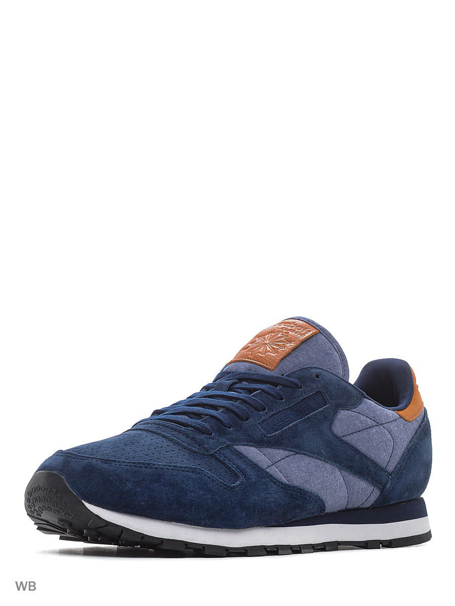 Кроссовки Reebok Кроссовки Cl Leather Ch    Collegiate Navy/Whit кроссовки reebok кроссовки reebok royal cl jog