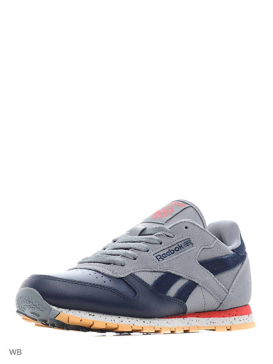 Кроссовки Reebok Кроссовки CL LEATHER SM AST DUST/NAVY/RED/GR рюкзак gregory sketch 25 flame red gr 75155