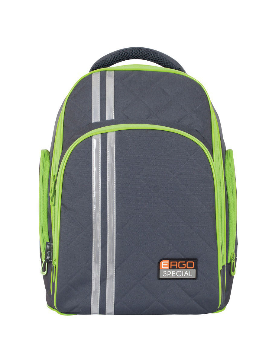 Рюкзак RAINBOW COLLECTION LIME&GREY Tiger Family 1741/G/TG