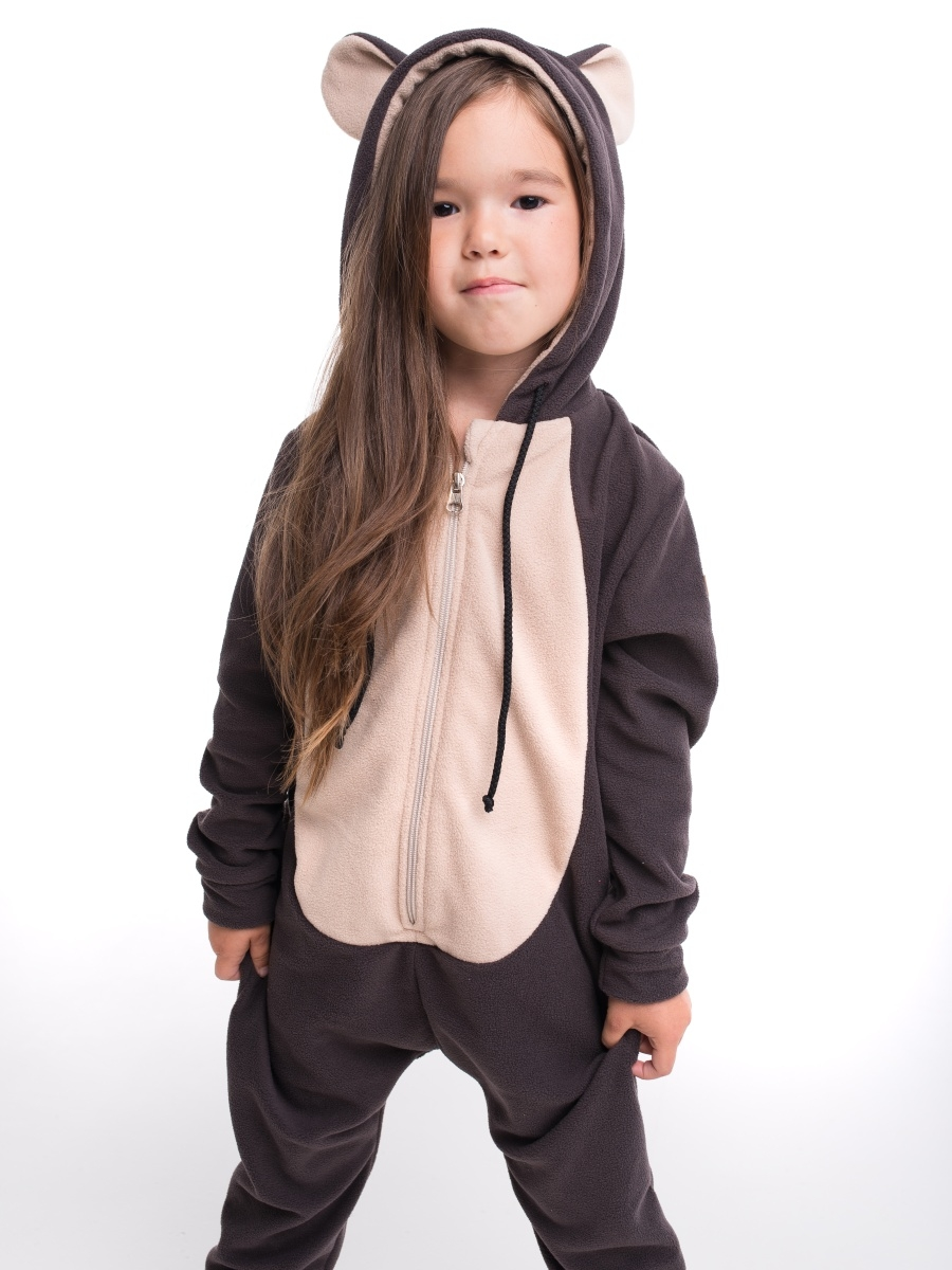 Комбинезоны FUNKY RIDE Комбинезон Мишка Бурый FUNKY BROWN BEAR HOME SUIT KIDS комбинезон заяц серый funky gray bunny homesuit kids
