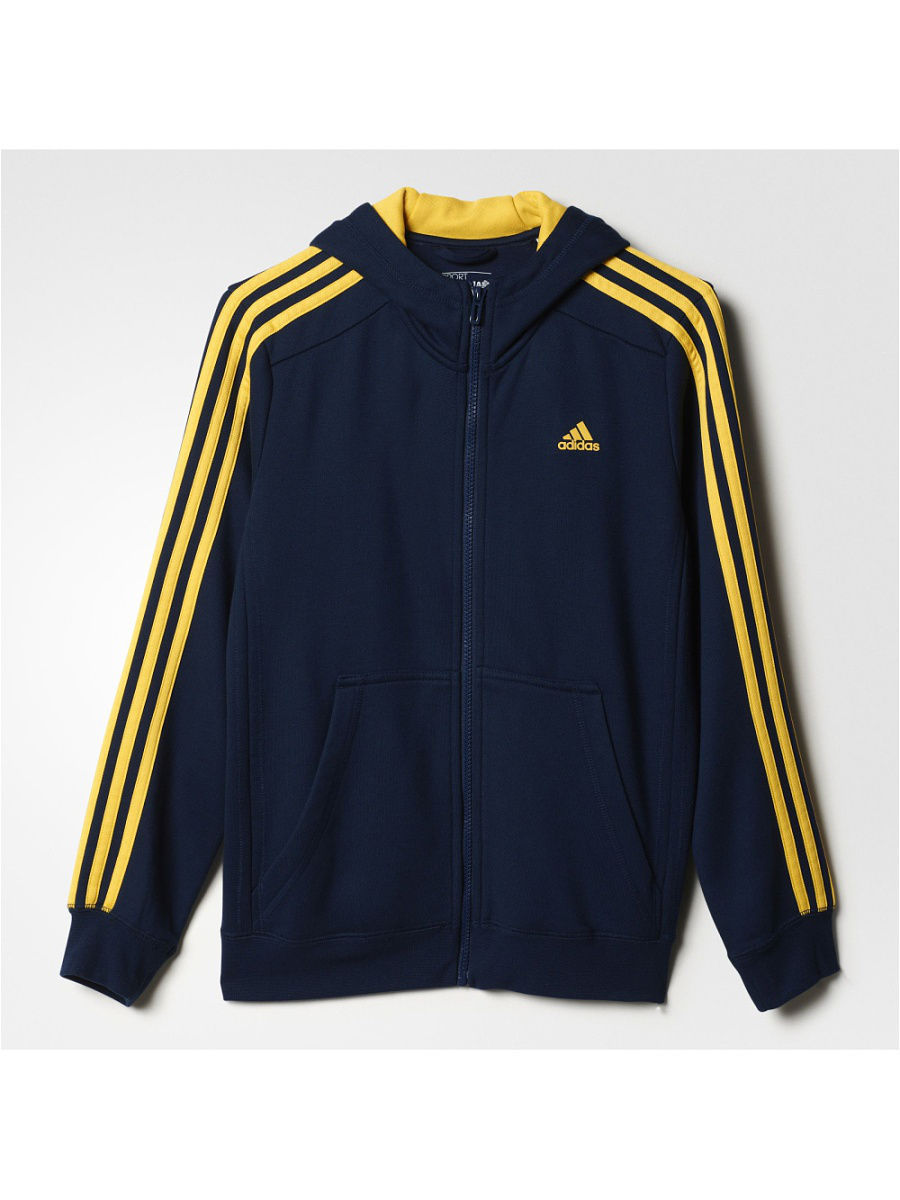 Джемперы Adidas Джемпер ESSENTIALS 3-STRIPES BRUSHED HOODIE худи essentials hoodie