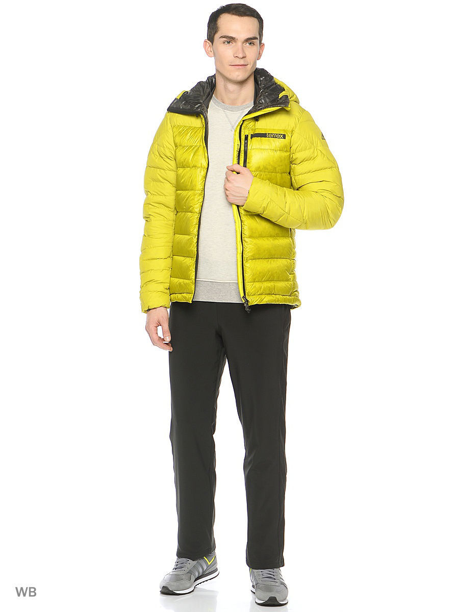 Пуховики Adidas Пуховик Terrex Climaheat Techrock Green Hooded Jacket пуховик terrex swift icezeit jacket