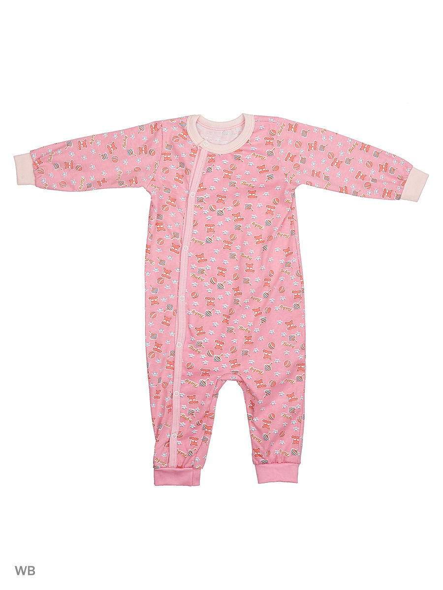 Комбинезон Babycollection 12LAO13-007/d/коралловый