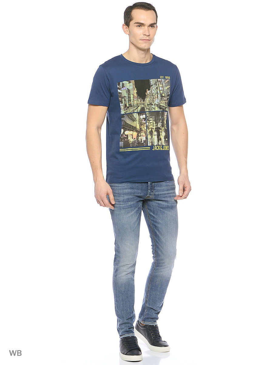 Футболка Jack & Jones 12118312/DarkDenim