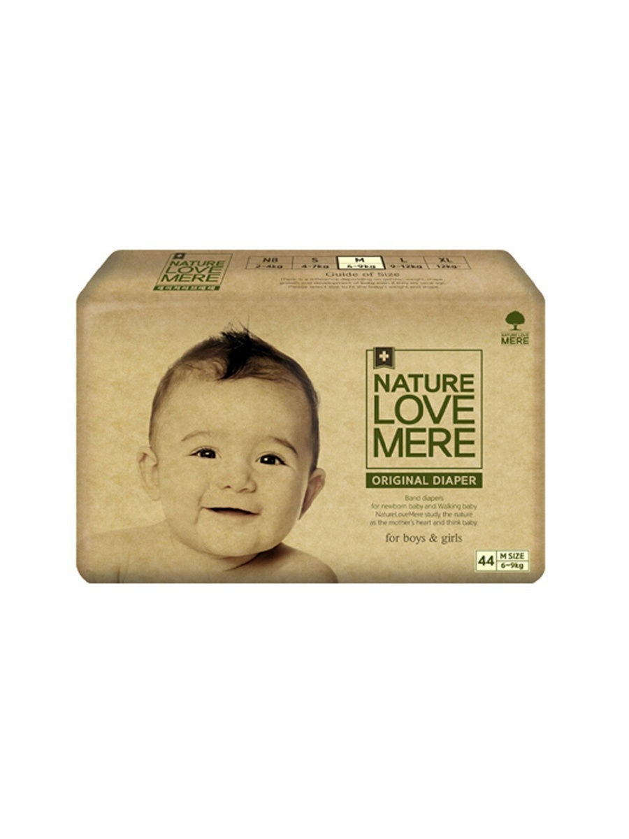 Nature Love Mere Подгузники original Basic Diaper M (6-9 кг) 44 шт. franck olivier nature original