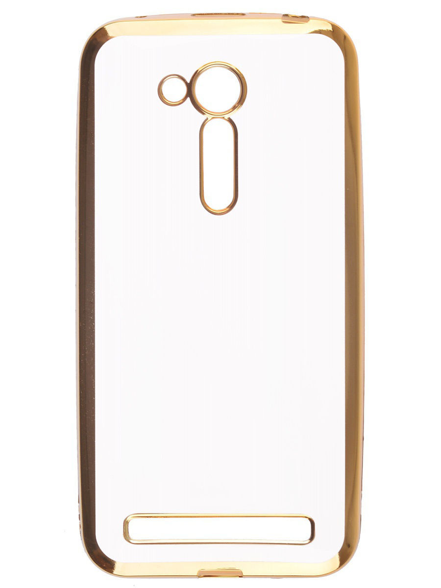 Накладка  skinBOX silicone chrome border 4People для Asus Zenfone Go ZB452KG/ZB450KL