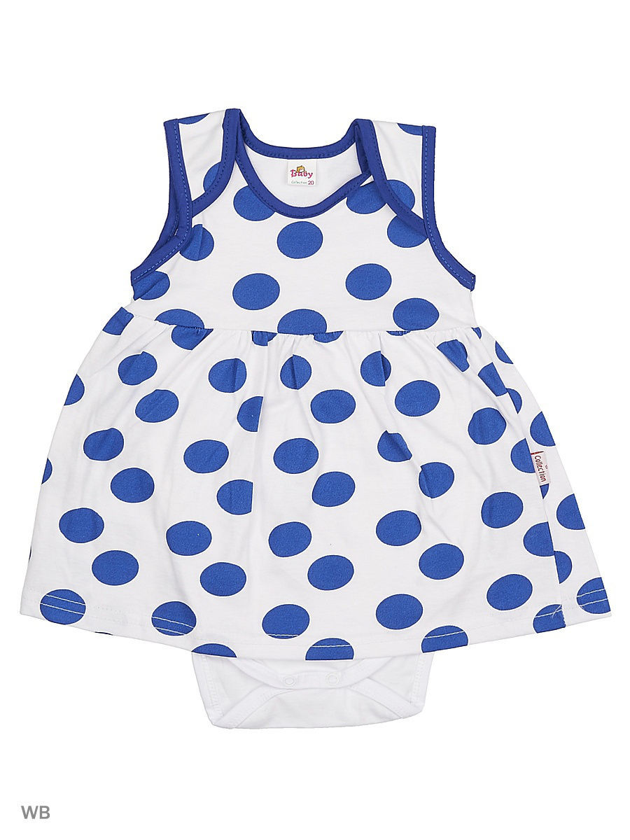 Платье Babycollection 13Baby-243/2/d/белый,синий
