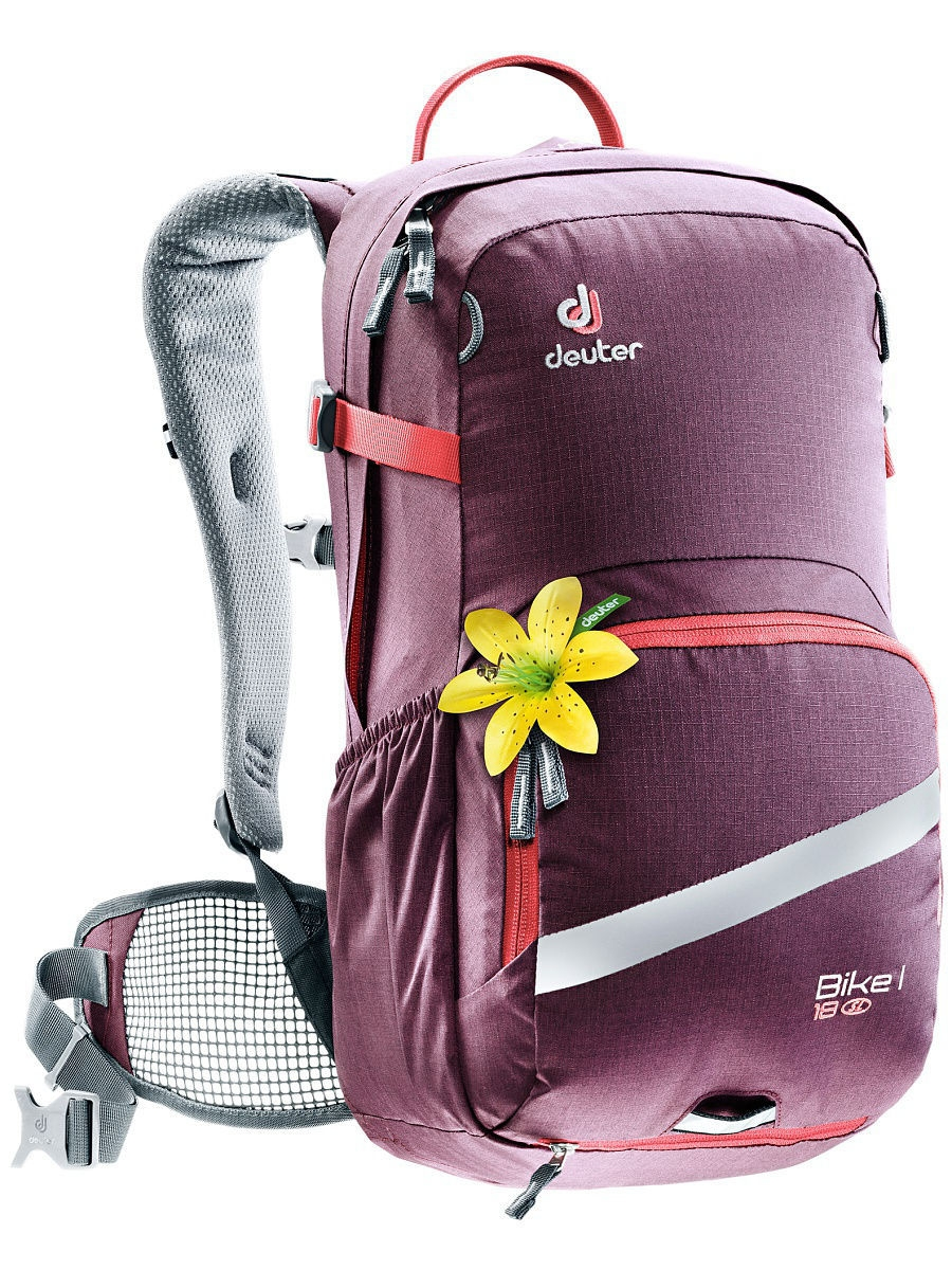Рюкзаки Deuter Рюкзак Bike I 18 SL aubergine-coral roomble зеркало amadeus