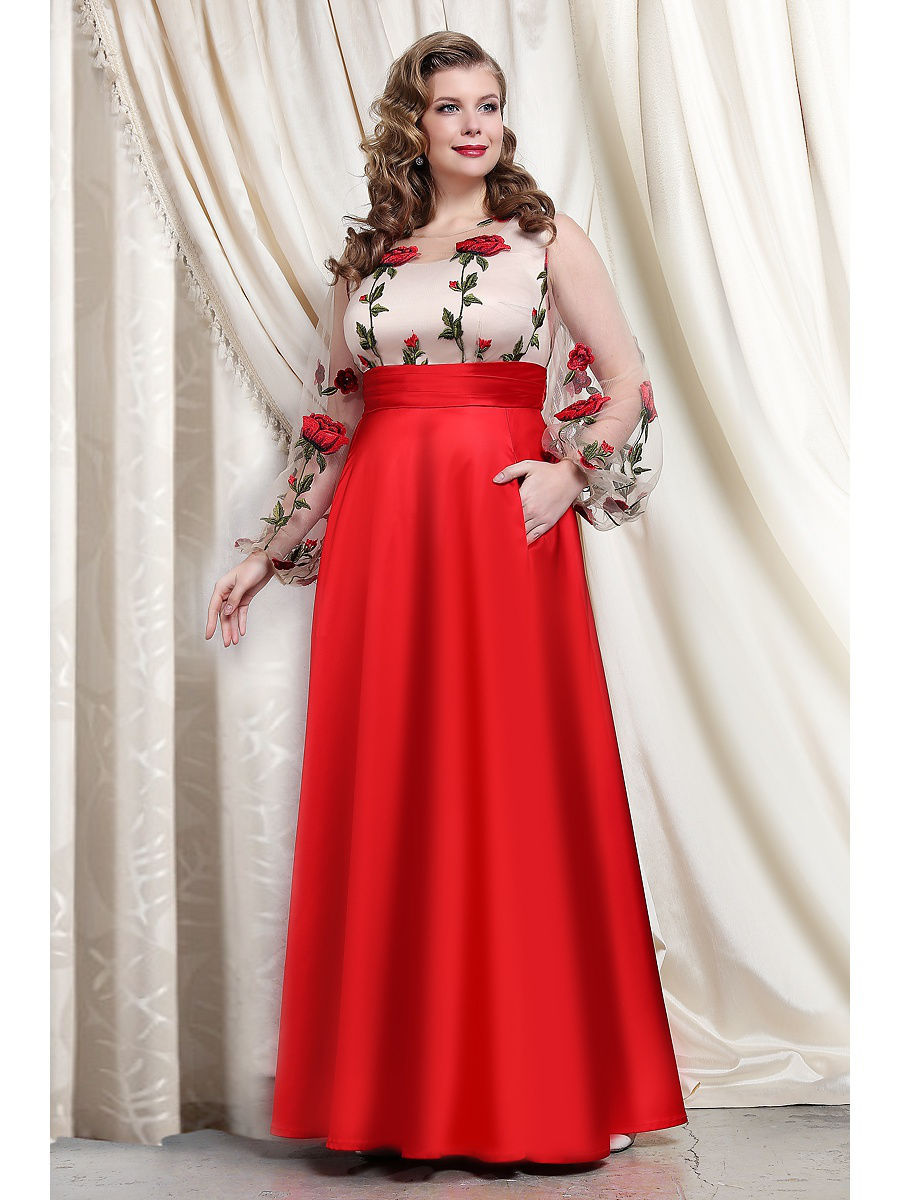 Платье to be bride TB029B/красный