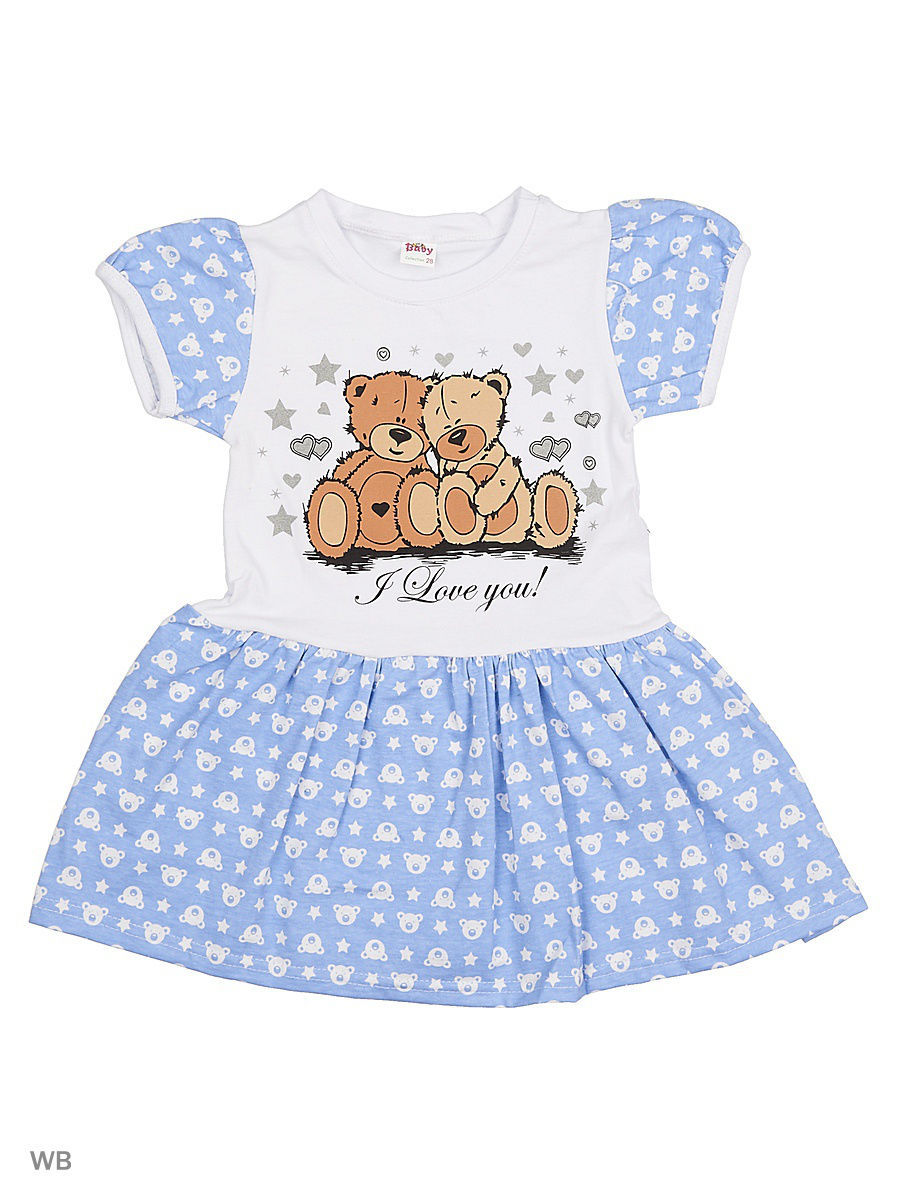 Платье Babycollection 13Baby-617/2/d/голубой