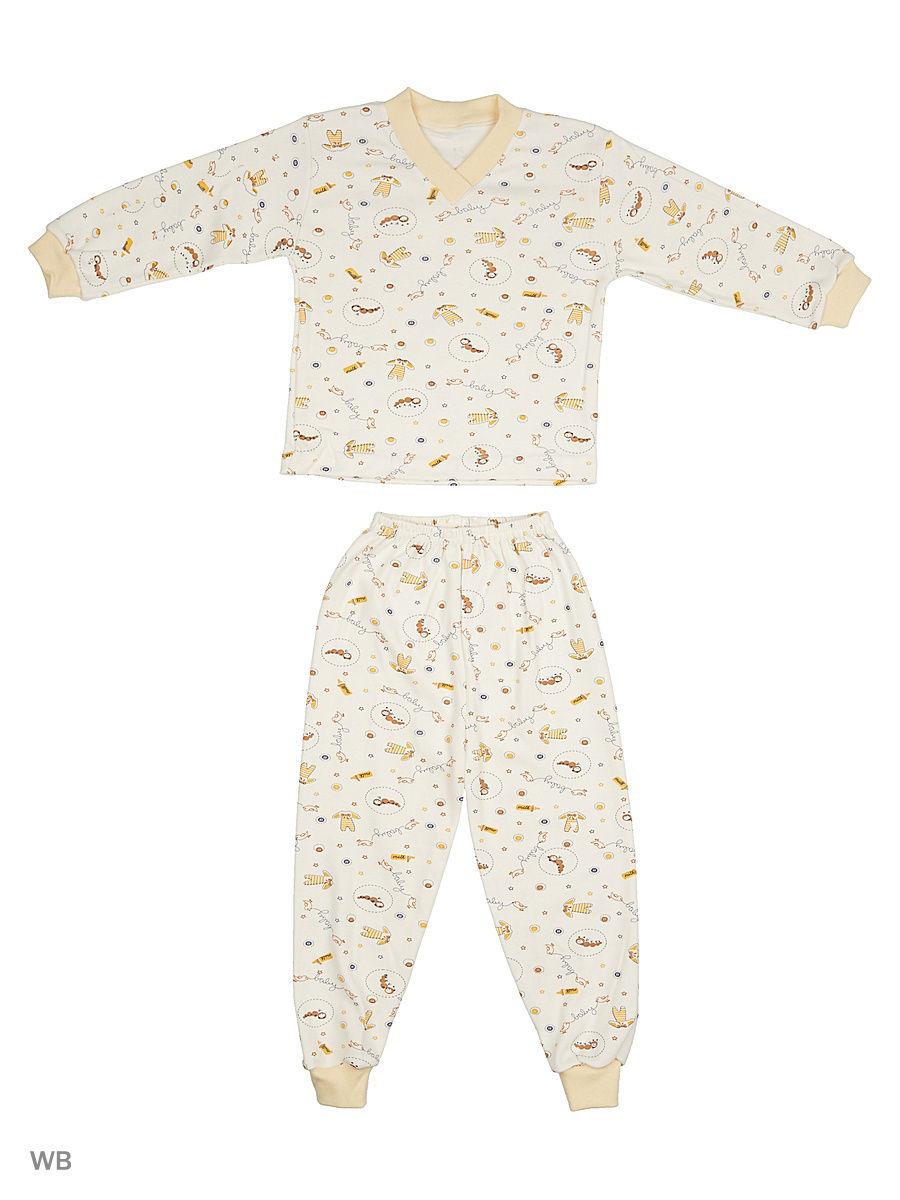 Пижама Babycollection 13Baby-485/1/d/молочный