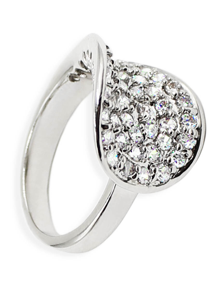 Кольцо Taya LX T-B-4841-RING-RHODIUM/18