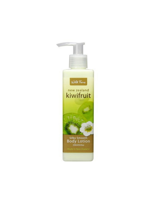 цена на Кремы Wild Ferns Увлажняющий лосьон Kiwifruit Silky Smooth Body Lotion для тела с киви и миндальным маслом, 240 мл