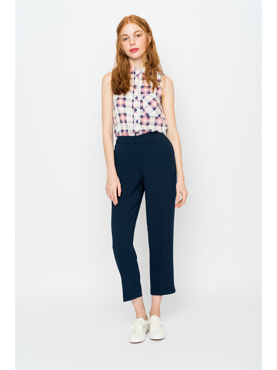 Брюки Befree Брюки foldover heather wide leg pants