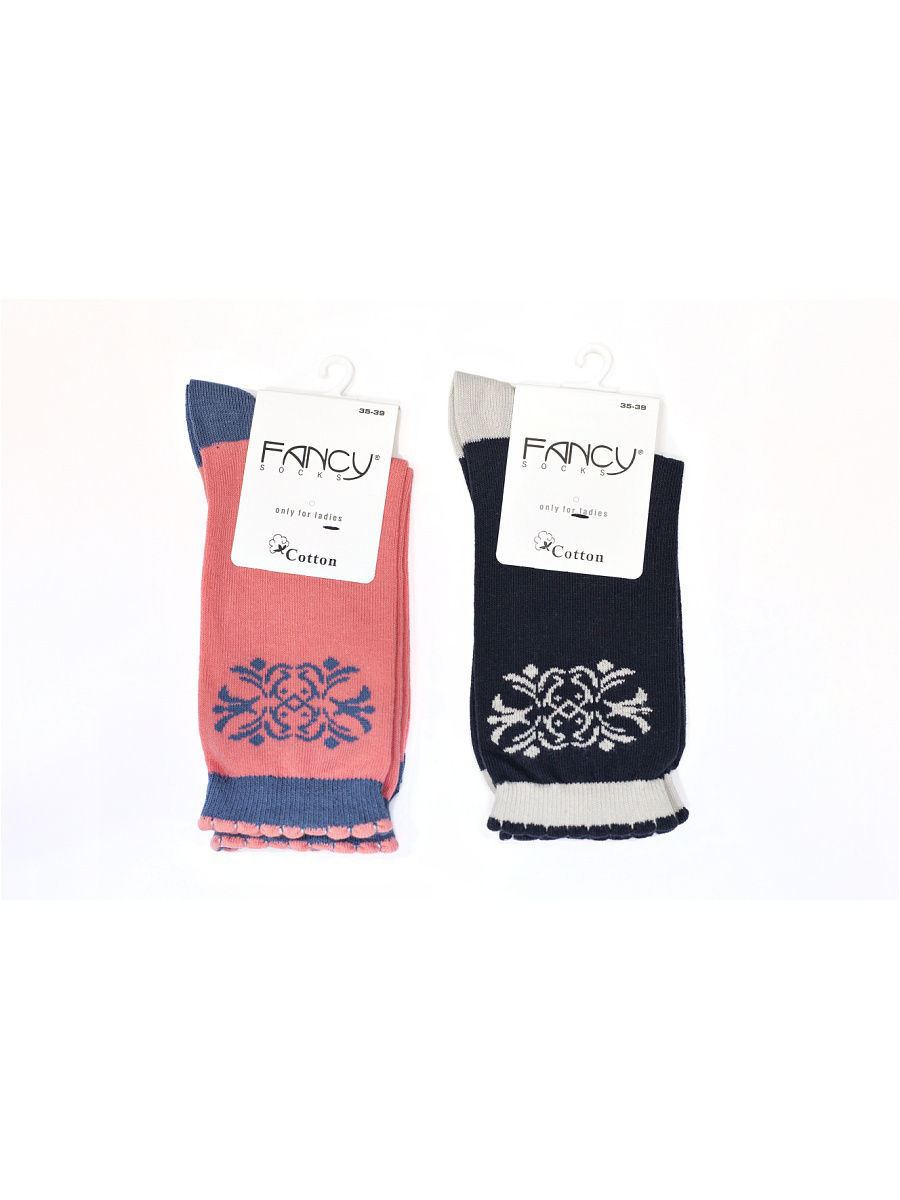 Носки Fancy socks by Oztas 2.5.228к2/черн/роз